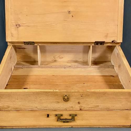 Victorian Pine Table Top Clerks Desk image-4
