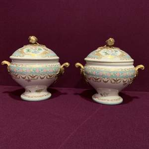 Pair of Decorative Continental Pottery Tureens