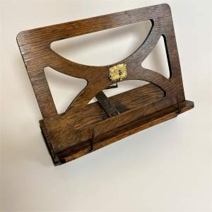 Oak Folding Music Stand or Book Rest by Bershaw - Edwardian