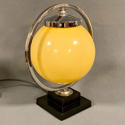 Art Deco Chrome Globe Lamp image-2