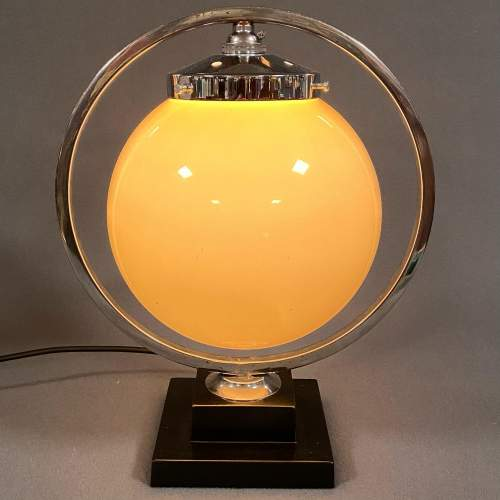 Art Deco Chrome Globe Lamp image-1