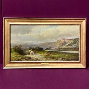 19th Century William Henry Cooper Oil on Canvas Long Journey Home