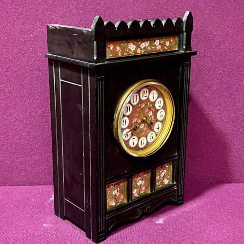 Late 19th Century Aesthetic Period Ebonised Bracket Clock image-2