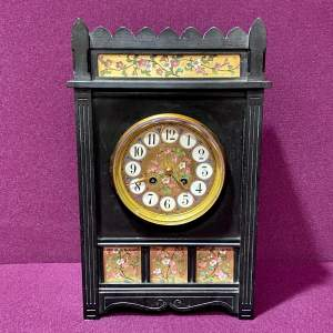 Late 19th Century Aesthetic Period Ebonised Bracket Clock