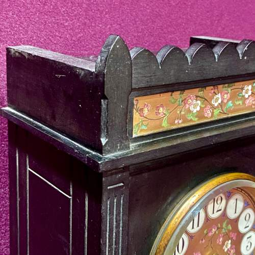 Late 19th Century Aesthetic Period Ebonised Bracket Clock image-5