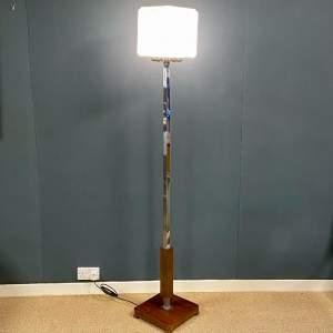 Rare Shape Art Deco Chrome Standard Lamp