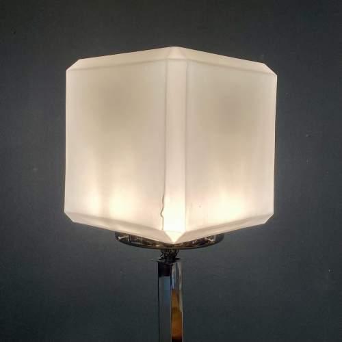 Rare Shape Art Deco Chrome Standard Lamp image-2