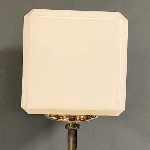 Rare Shape Art Deco Chrome Standard Lamp image-4