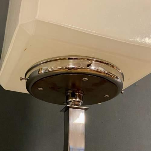 Rare Shape Art Deco Chrome Standard Lamp image-6