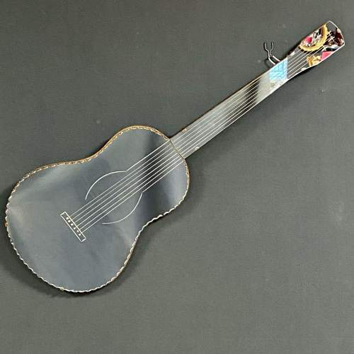 Art Deco Guitar Shaped Mirror image-1