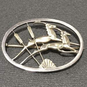 George Tarratt Silver Brooch