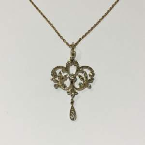 19th Century Diamond and Gold Pendant