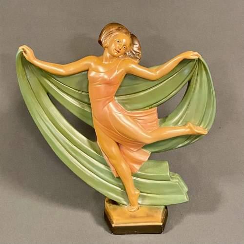 Art Deco Plaster Dancing Lady image-1