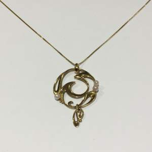 Ola Gorie 9ct Gold and Pearl Pendant