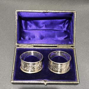 Pair of Edwardian Chester Silver Napkin Rings