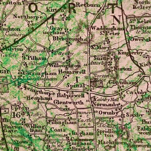 19th Century Framed Map Of Lincolnshire image-2