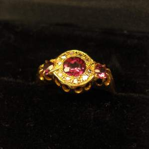 Victorian Ruby and Diamond 18ct Gold Ring
