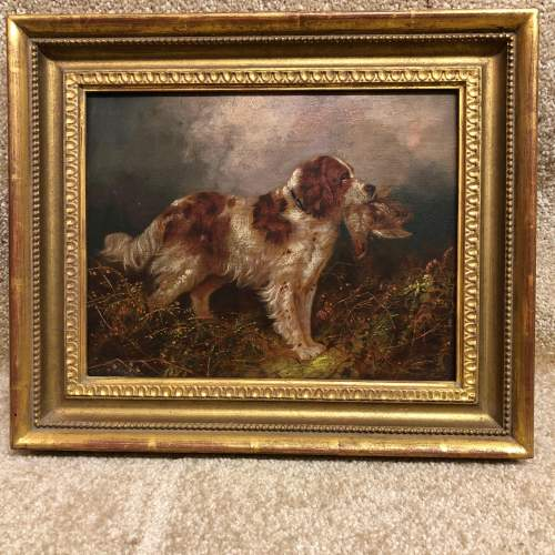 English School 19th Century Oil On Canvas of a Springer Spaniel image-5