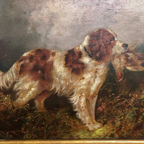 English School 19th Century Oil On Canvas of a Springer Spaniel image-4