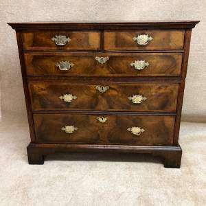 18th Century Oak And Walnut Chest Of Drawers