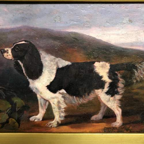 19th Century Oil On Canvas of a Spaniel In Landscape image-3