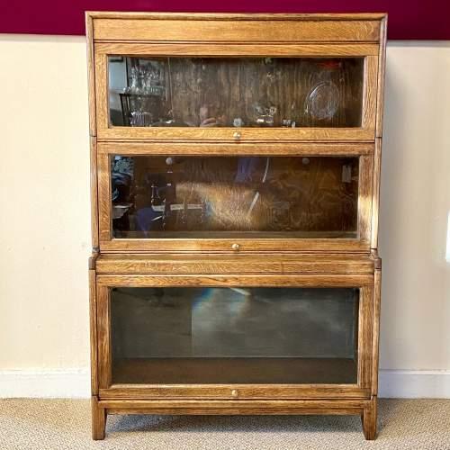 Gunn Glazed Oak Sectional Stacking Bookcase image-1