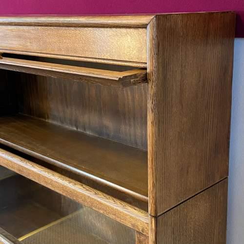 Gunn Glazed Oak Sectional Stacking Bookcase image-2