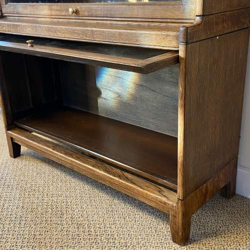 Gunn Glazed Oak Sectional Stacking Bookcase image-3