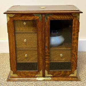 Early 20th Century Oak Smokers Cabinet