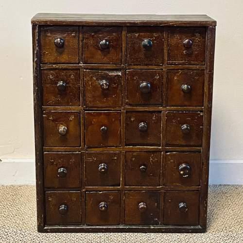 Victorian Rustic Pine Bank of Twenty Drawers image-1