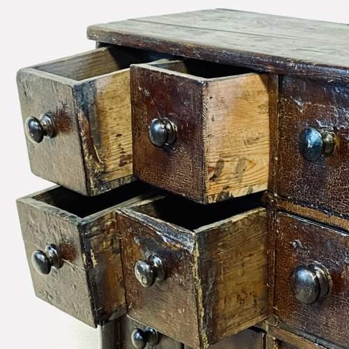 Victorian Rustic Pine Bank of Twenty Drawers image-3