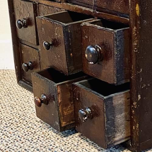 Victorian Rustic Pine Bank of Twenty Drawers image-4