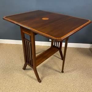 Edwardian Inlaid Mahogany Sutherland Table