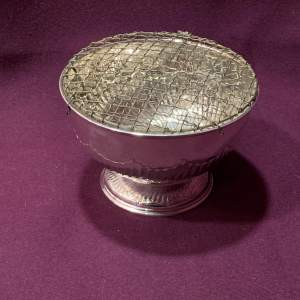 Victorian Solid Silver Rose Bowl