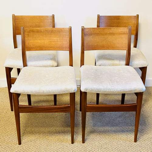 Set of Four 20th Century Danish Teak Dining Chairs image-1
