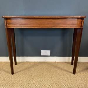 George III Inlaid Mahogany Side Table