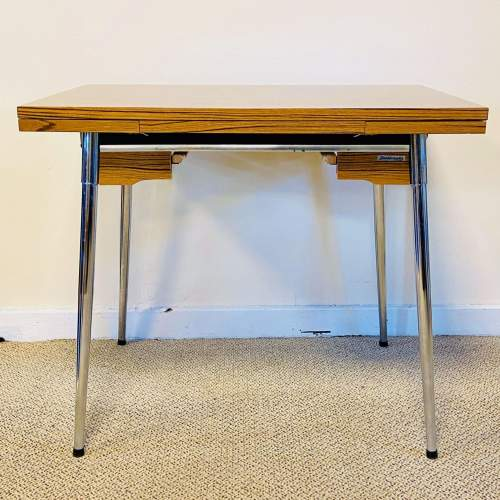 Mid 20th Century Supermatic Chrome and Formica Dining Table image-1