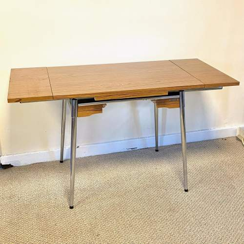 Mid 20th Century Supermatic Chrome and Formica Dining Table image-2