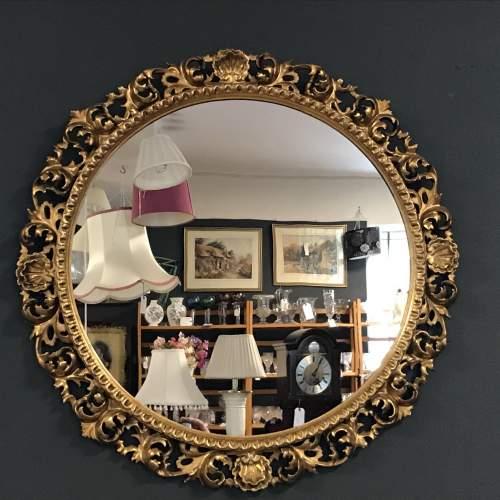 Giltwood Florentine Framed Wall Mirror image-1