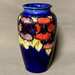 William Moorcroft Pansy Vase