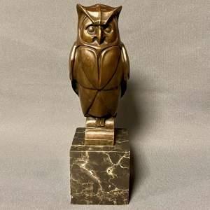 French Bronze Owl
