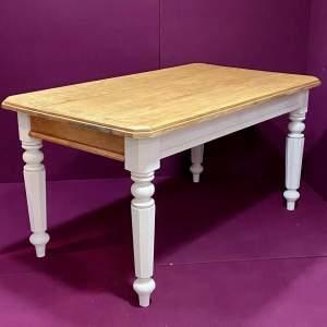 Refurbished Victorian Solid Oak Table