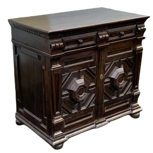 A Fine 17th Century Oak Cabinet image-1