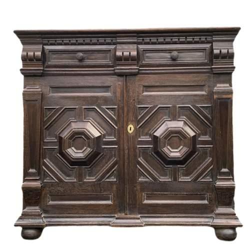 A Fine 17th Century Oak Cabinet image-2