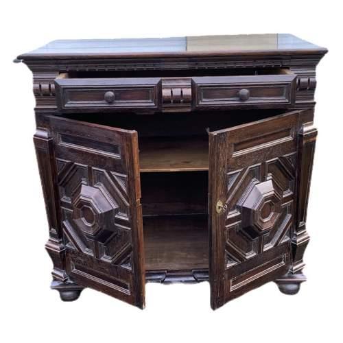 A Fine 17th Century Oak Cabinet image-3