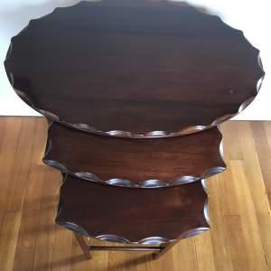 Edward VII Mahogany Nest of Three Tables