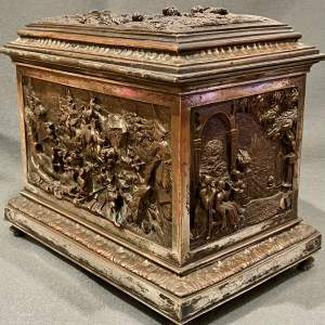 19th Century French Highly Decorative Metal Casket