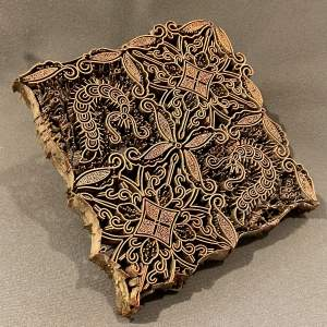 Copper Printing Block with Insect Design