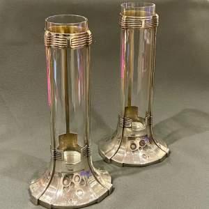Pair of Osiris Arts and Crafts Vases