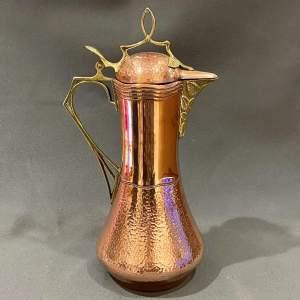 Art Nouveau F and R Fischer Copper Lidded Jug